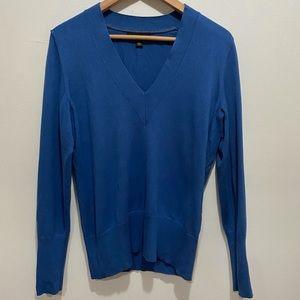 Banana Republic Blue V Neck Cashmere Blend Sweater